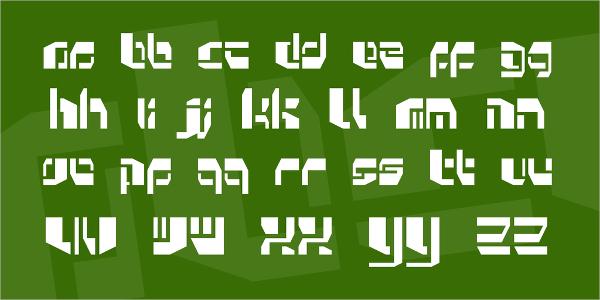 Kosmonaut Stencil Font
