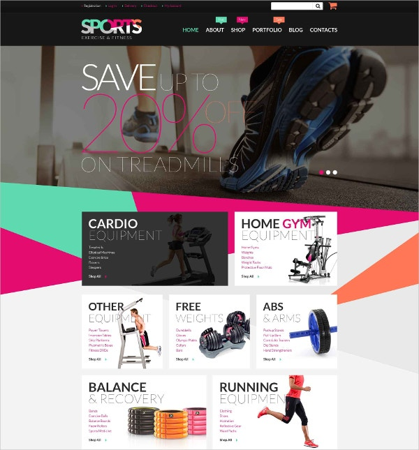 Fitness Equipment WooCommerce Website Theme $14