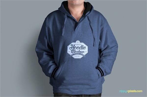 Mens Fabulous Free Hoodie Mockup