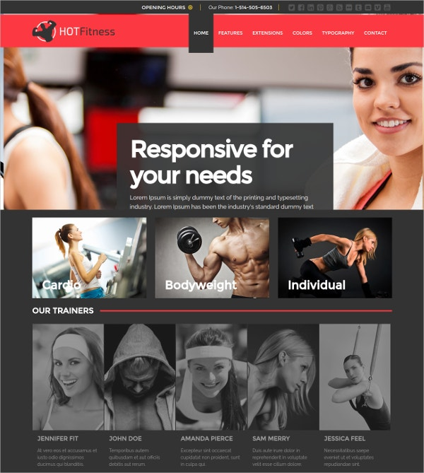 fitness studios gyms joomla website theme