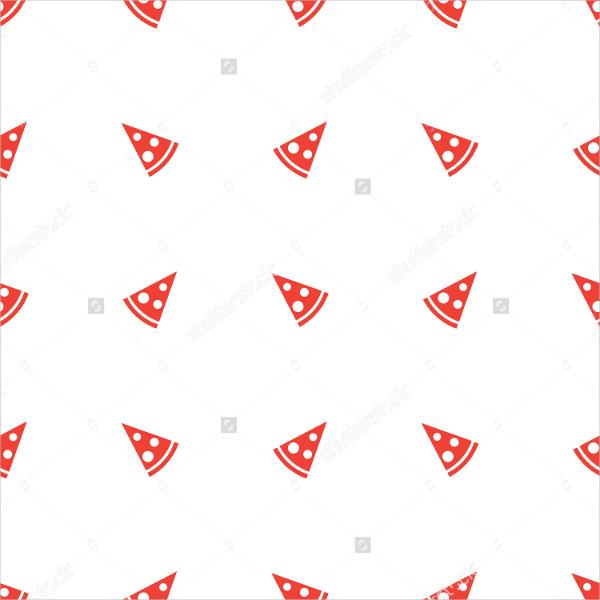 orange pizza piece seamless pattern