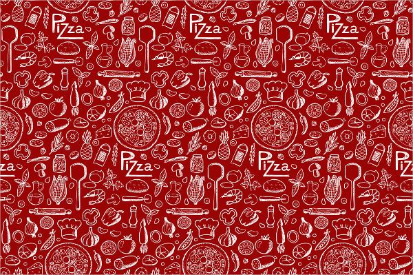 Doodle Pizza Pattern