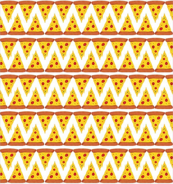 monochrome pizza pattern