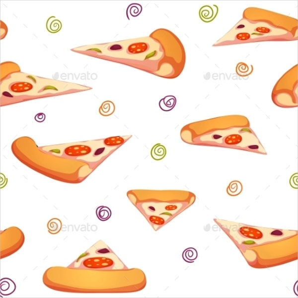 Pizza Pieces Seamless Pattern