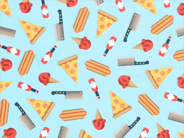 Pizza & Ice Cream Pattern