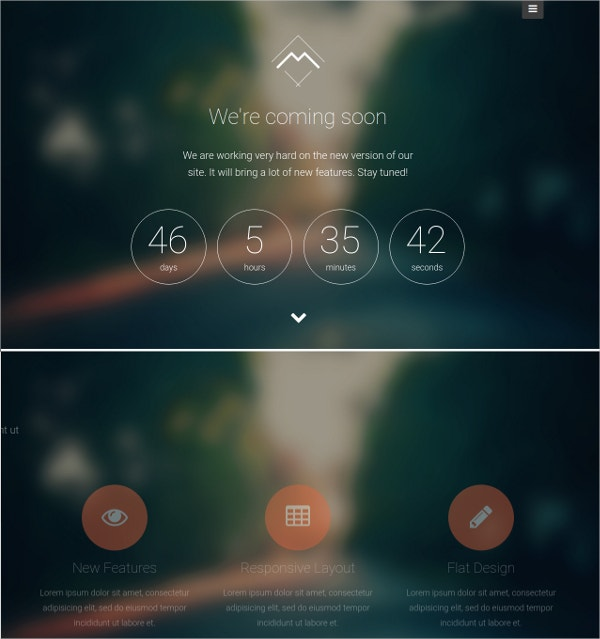 Landing Page Coming Soon WordPress Theme