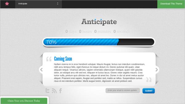 amazing coming soon wordpress theme