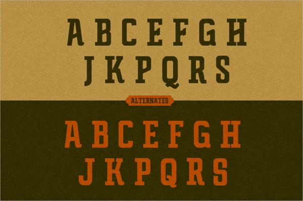 Retro Typography Font
