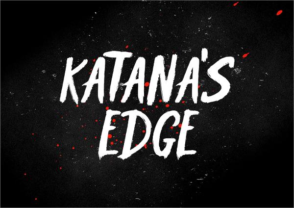 Κatanas Edge Typography Font