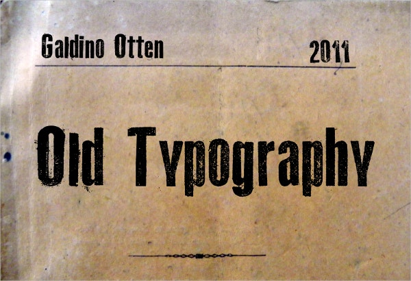 Old Typography Font
