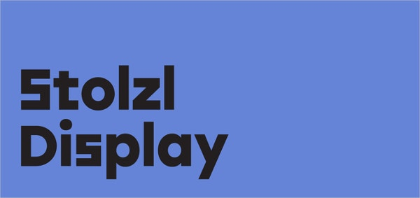 stolzl display typography font