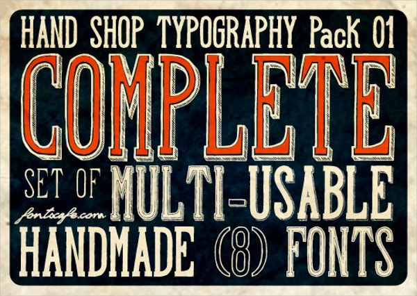 Hand Shop Typography Font