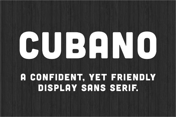 Cubano Typography Font
