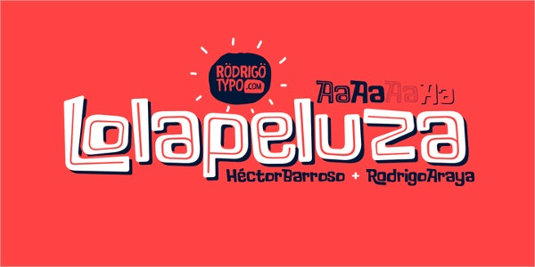 Lollapalooza Typography Font