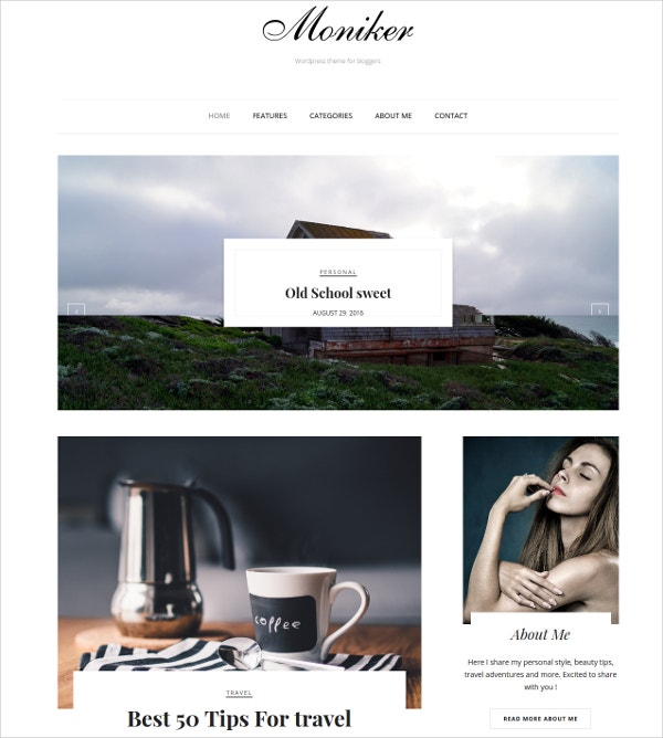 Travellers & Photographers WordPress Blog Theme $39