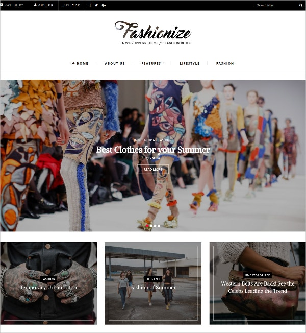 Fashion & Lifestyle Blogger WordPress Theme $49