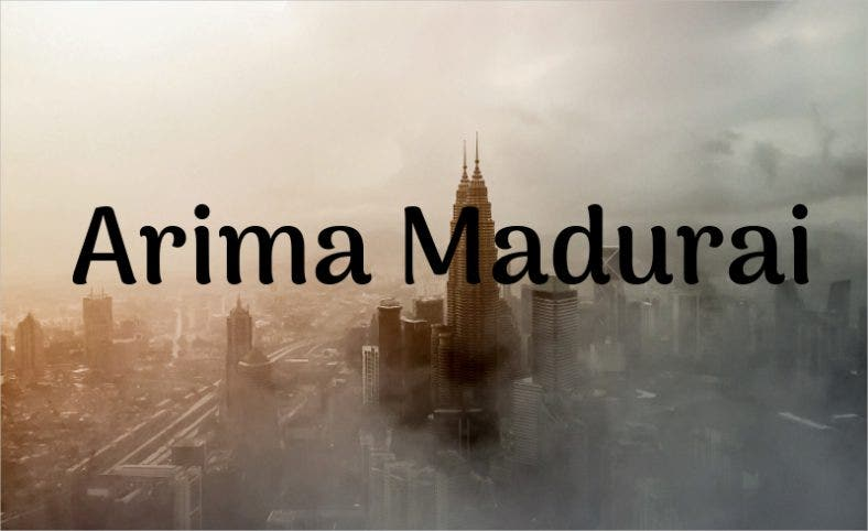 Arima Madurai Font