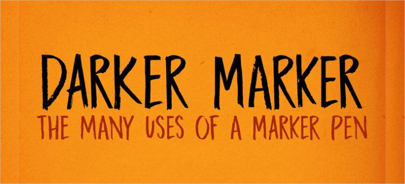 Darker Marker font