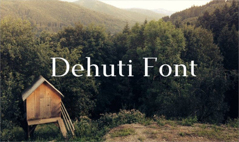 Dehuti Font