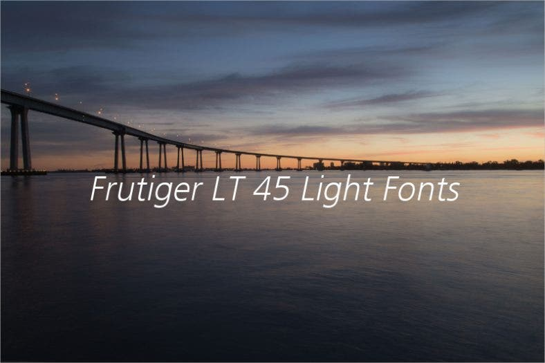 Frutiger LT 45 Light Fonts