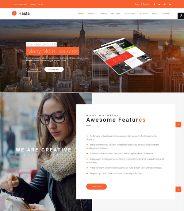 Multipurpose One Page Joomla Theme $48