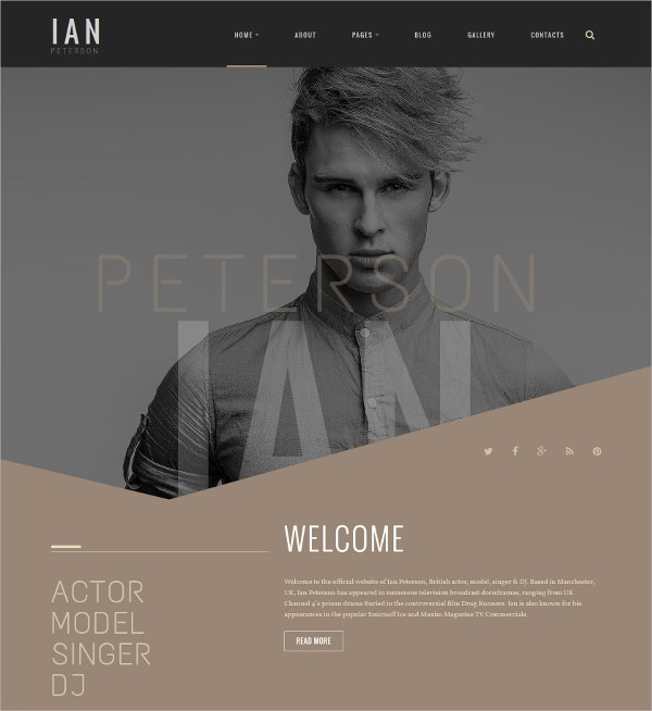 Model Singer & DJ Joomla Template $75