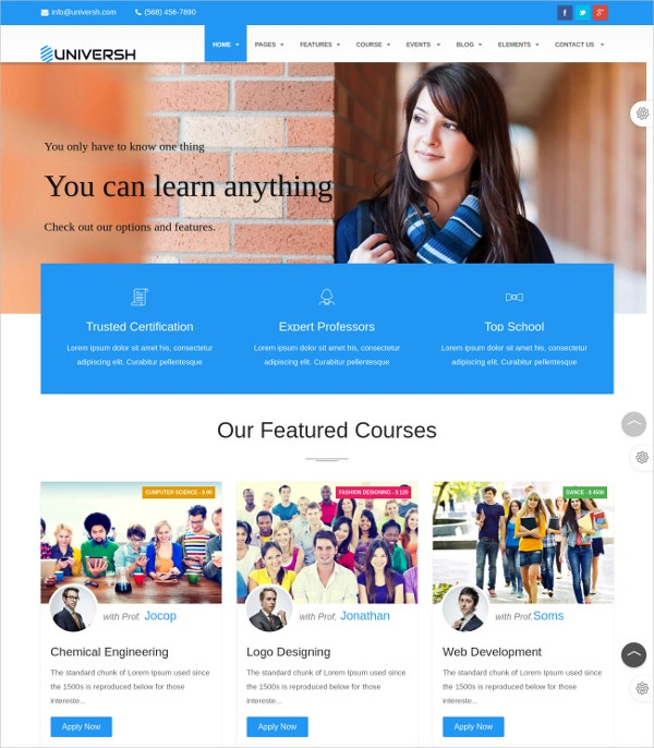 Education Events & News Joomla Template $48