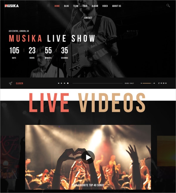 Band & Music Festival joomla Template $59