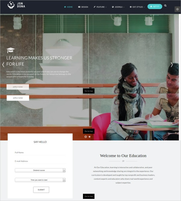 Multipurpose & Education Joomla Template $48