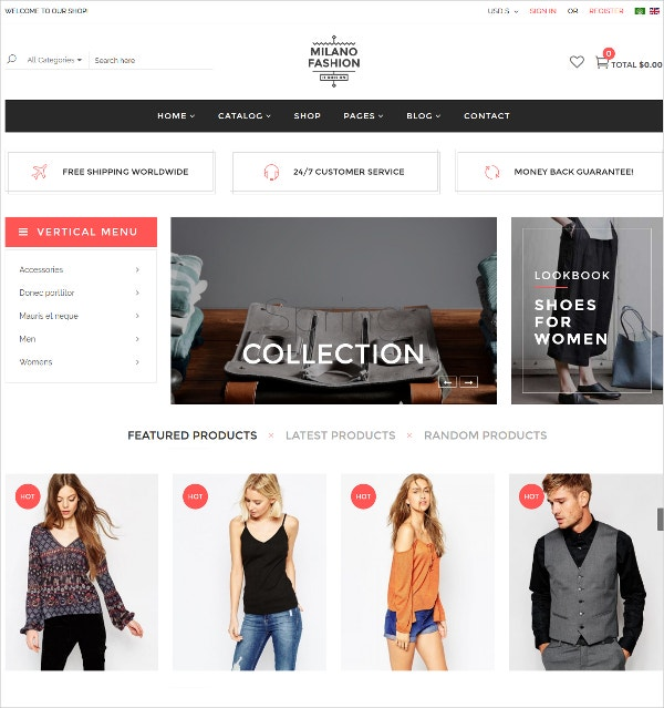 Fashion Clothes Virtuemart Template $58