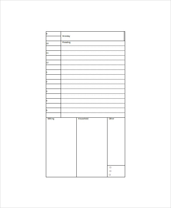 8 best daily planner templates free sample example format