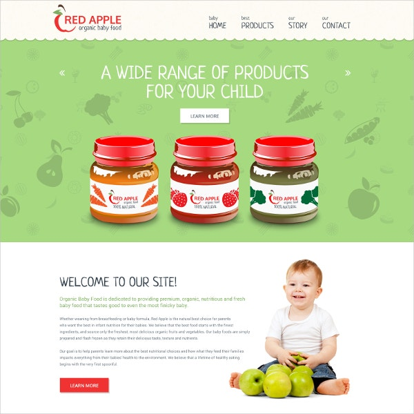 Organic Food Website Template