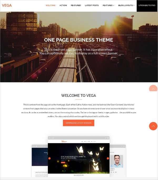 free small business website template