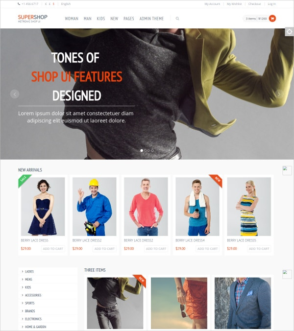 Free eCommerce Shop Bootstrap Template