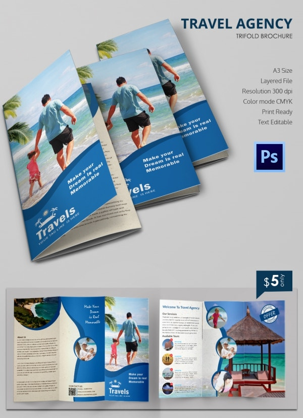 Freebie of the Day - Travel Tri-fold Brochure
