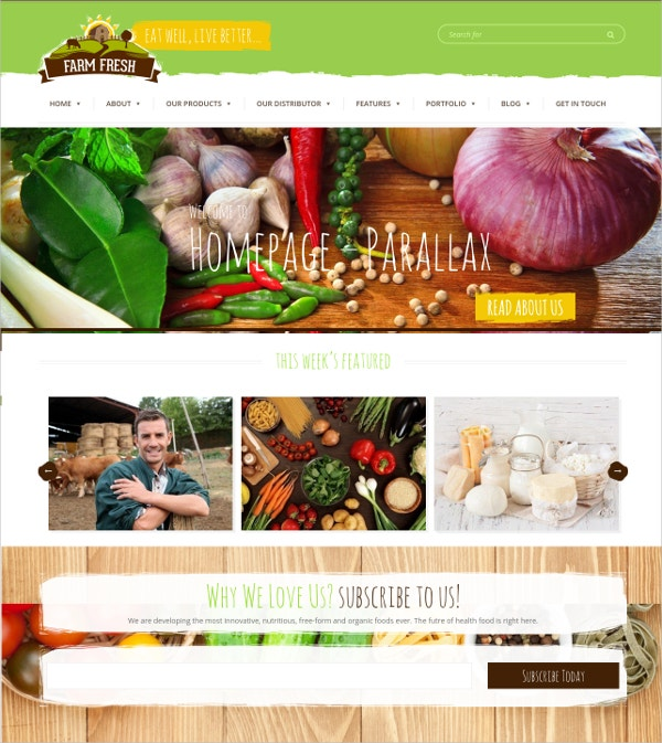 organic products website template