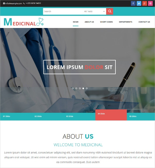 Free Medical Responsive Bootstrap Template