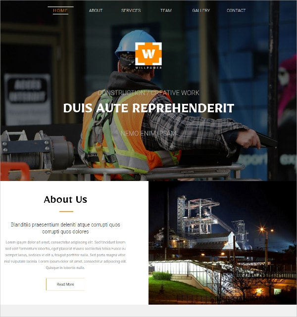 Free Industry Services Website Template