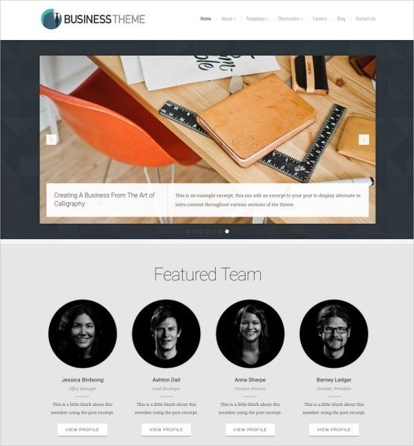 Business Oraganic Website Theme
