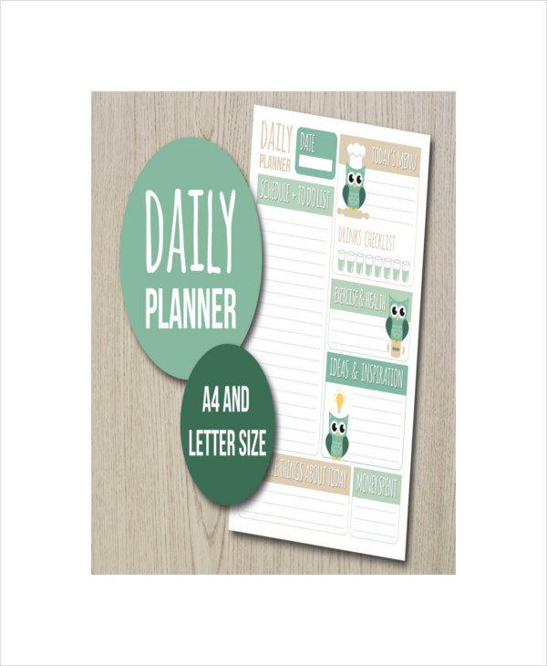 cute design daily planner
