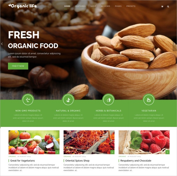 Organic Businesses & e-Commerce Joomla Website Template