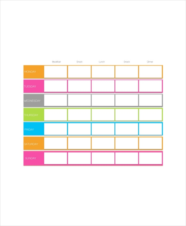 Cute Daily Agenda Template  Printable Editable Blank