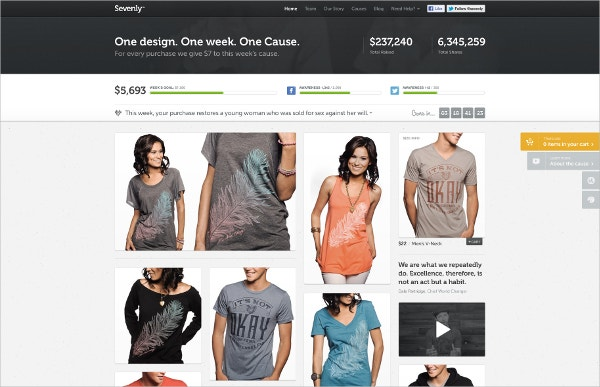Sevenly Homepage Campaign Design