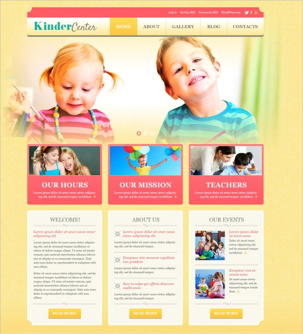 Kids Caring Center WordPress Theme