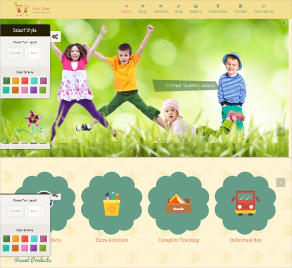 Kids Entertainment WordPress Theme