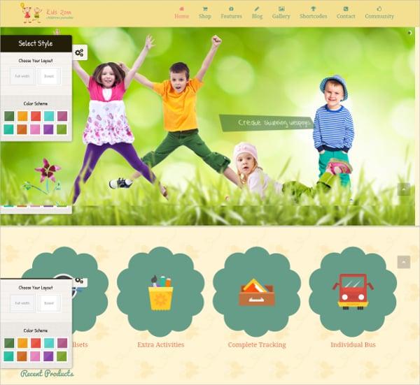 kids entertainment wordpress theme
