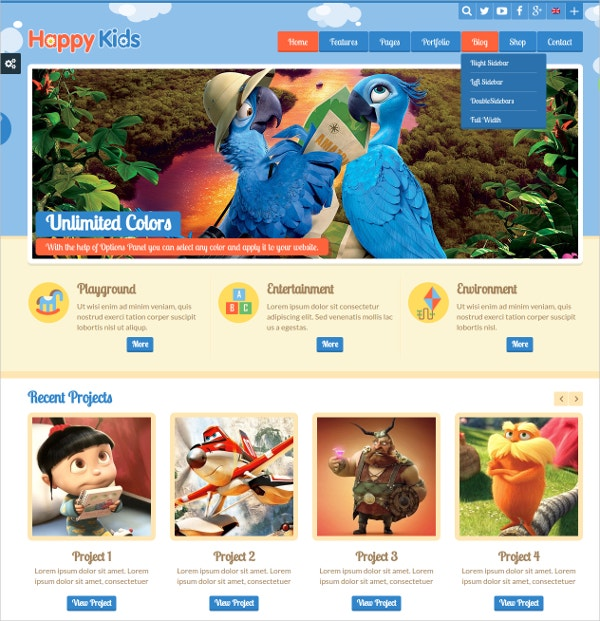 14+ Kids WordPress Themes & Templates | Free & Premium Templates