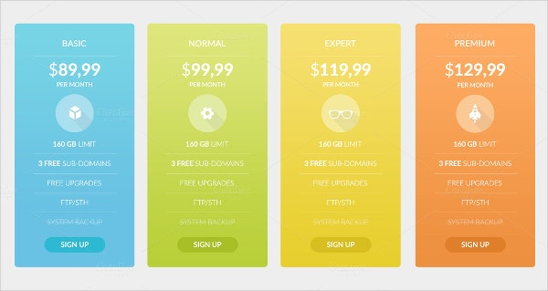 10 Pricing Tables Bundle