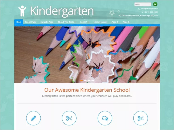 free kids kindergarten wordpress theme