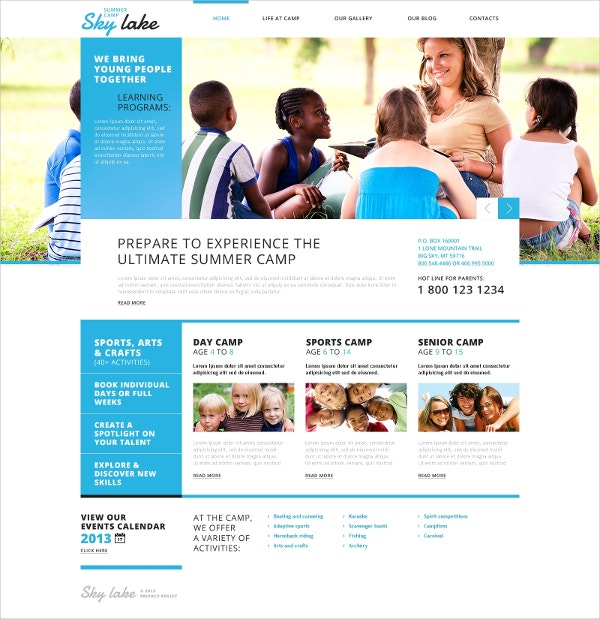 Kids Summer Vacation WordPress Theme